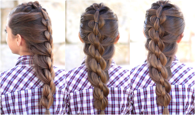 5 Minute Hairstyles Braids: Pull Through Mermaid Braid