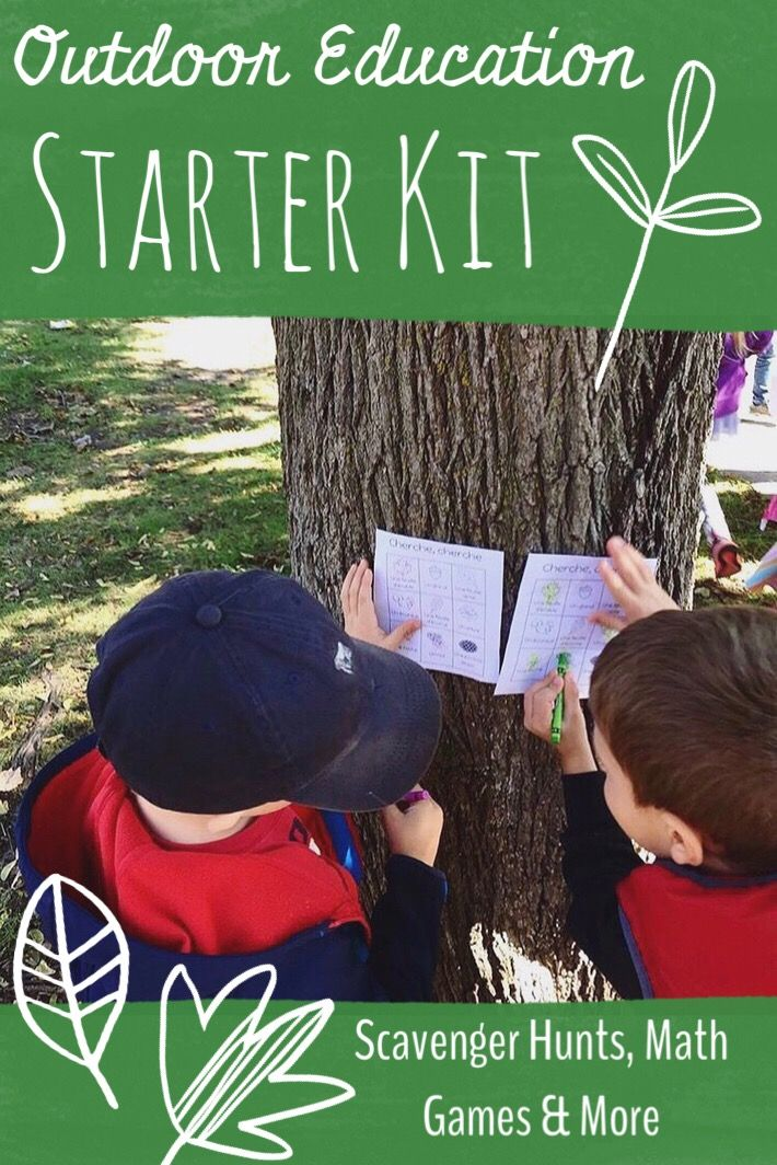 English Kindergarten Outdoor Education Activities! // Print and Play
