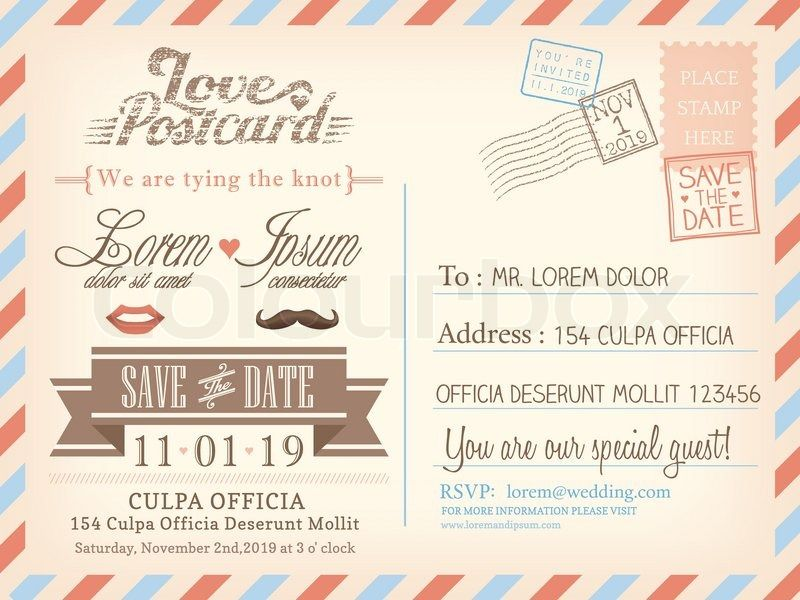 post card invitations
