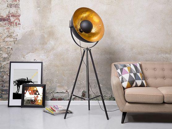 Staande lamp zwart lamp stalamp leeslamp vloerlamp thames