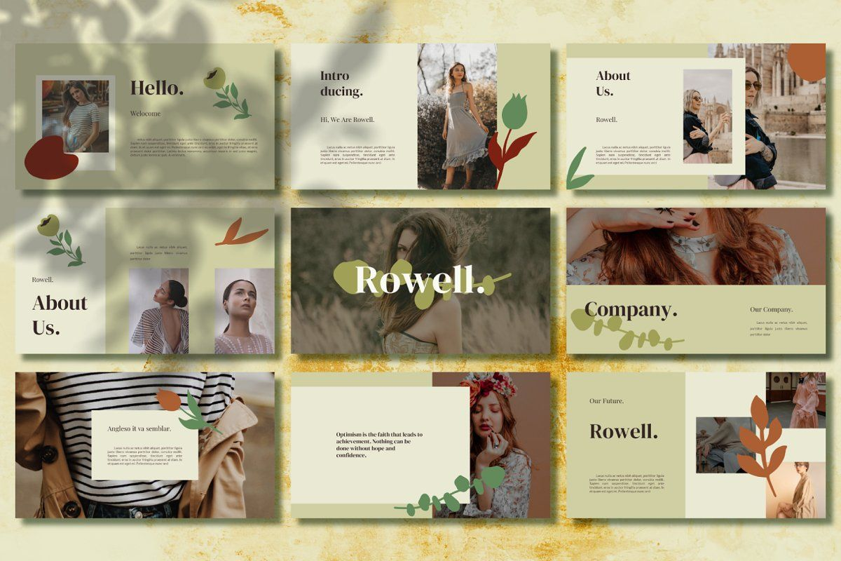 Rowell Keynote Template In 2020 Keynote Template Creative Powerpoint Templates Templates