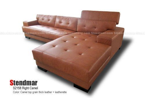 New Modern Camel Top Grain Thick Leather Sectional Sofa S2158RC By  STENDMAR, Http:/
