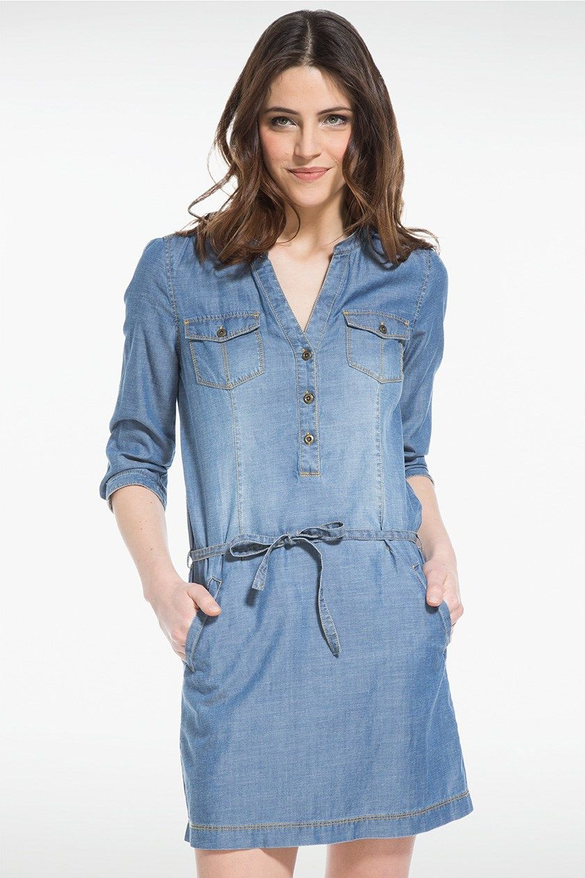 chemise longue en jean femme fashion designs. Black Bedroom Furniture Sets. Home Design Ideas