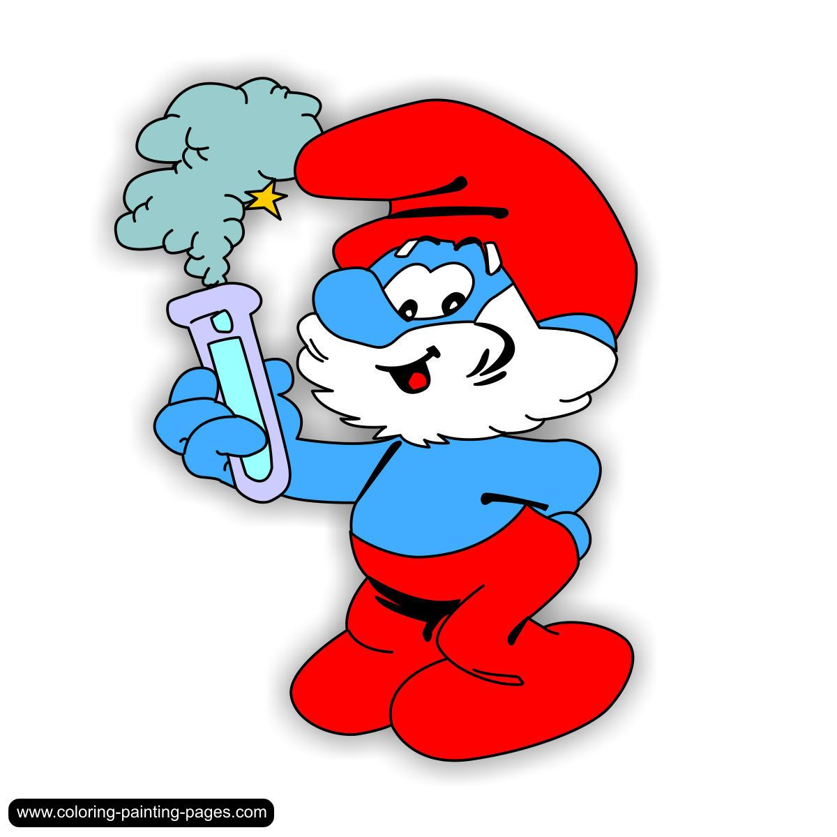 Coloring pages Smurfs- free downloads | This and that | Pinterest ...