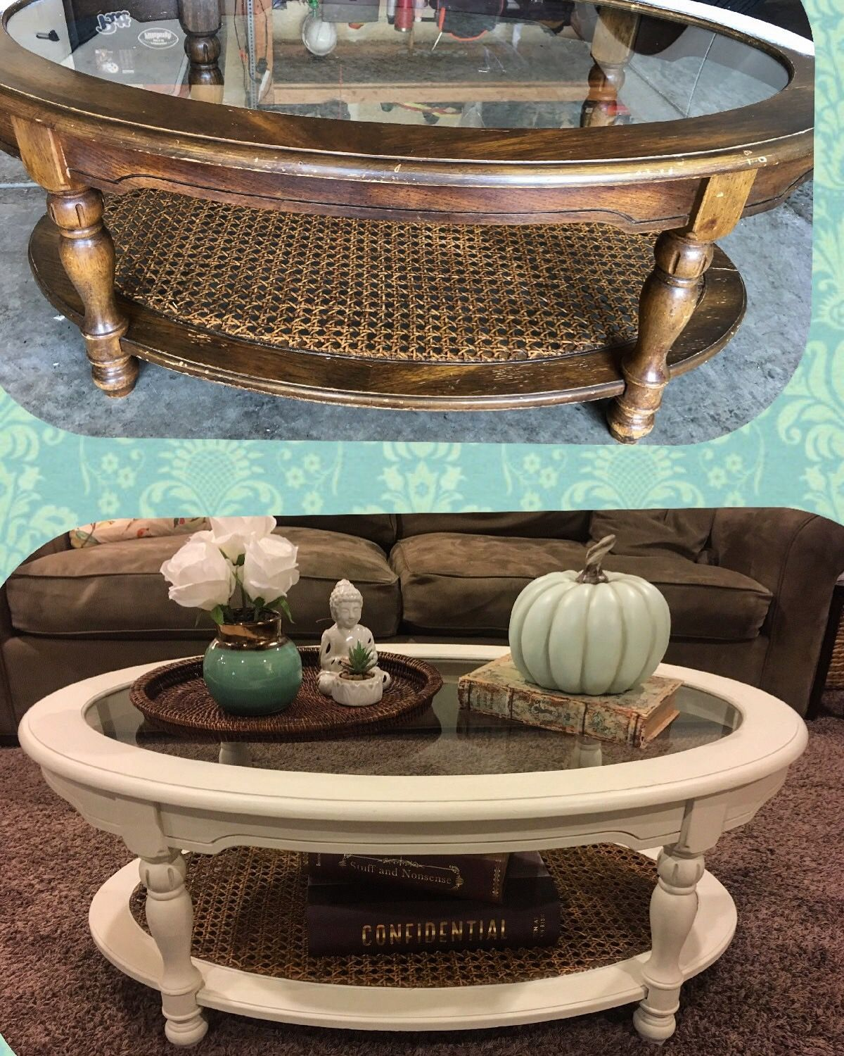 Before And After: Old Coffee Table Makeover. Chalk Paint