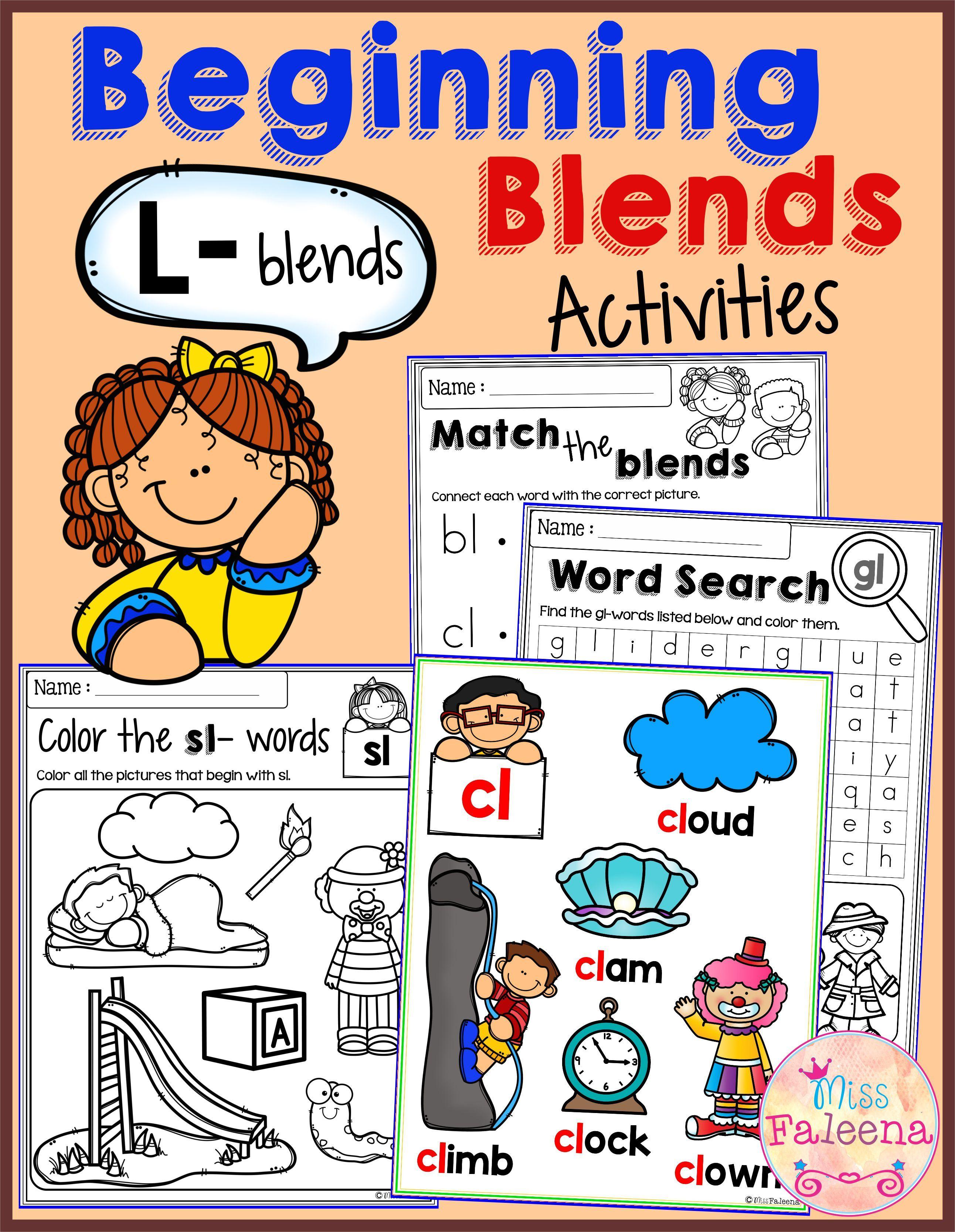 The Beginning Blends Activities L Blends