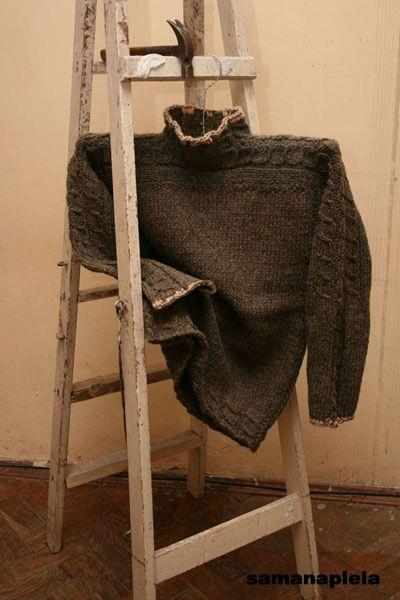 Свитер из домотканой овечьей шерсти - Ольга Моцар