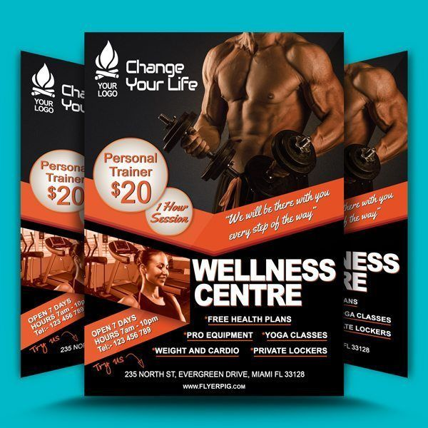Gym Fitness Flyer Template  Layout    Gym Fitness