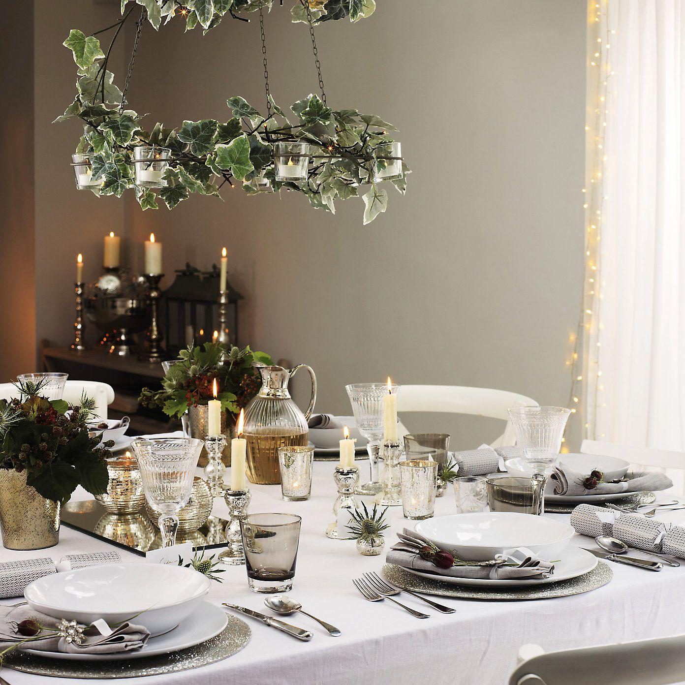 Christmas Table The White Company Christmas Table Cottage Christmas Farmhouse Christmas