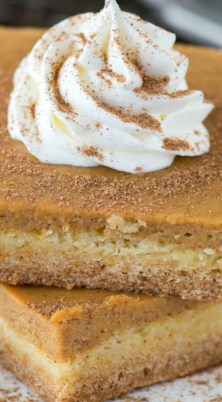 Pumpkin pie bar recipe with cake mix