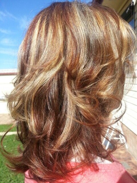 Brown Hair With Redblonde Highlights Hair Pinterest Red