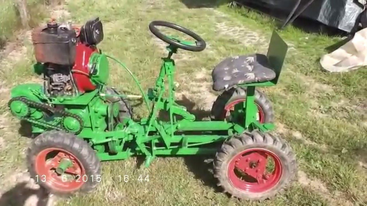 Homemade small tractor - the maker is very clever & skilled, and he on garden tractor, oliver 4x4 tractor, honda lawn tractors, mini articulating tractor, attachment for rear of tractor, john deere 1023e sub compact tractor, cheapest sub compact tractor, mitsubishi d1650 tractor, branson 4x4 tractor, honda compact tractors,