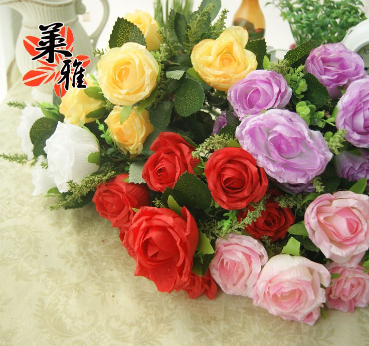 Aliexpress buy 70 heads high quality rose artificial flower aliexpress buy 70 heads high quality rose artificial flower silk home wedding party shop decoration wholesale free shipping 30cm long 65cm dia from mightylinksfo
