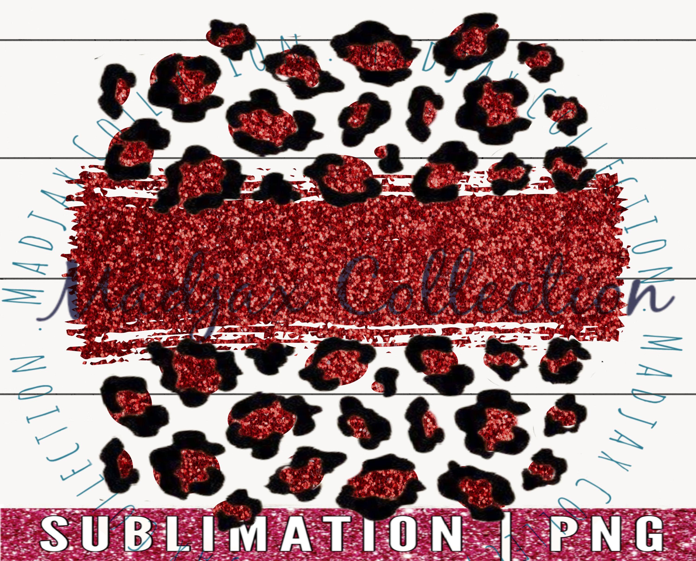 Glitter Sublimation Download PNG File Leopard Print Mama Brush Strokes Digital Download