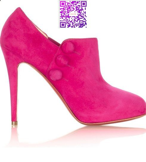 Pink Suede Shoe by Christian Louboutin, Love these , but I think I would break my neck and my bank account