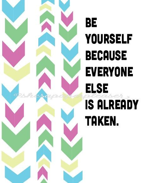 """""""be you""""  Print by ShesAPaperPleaser on Etsy"""