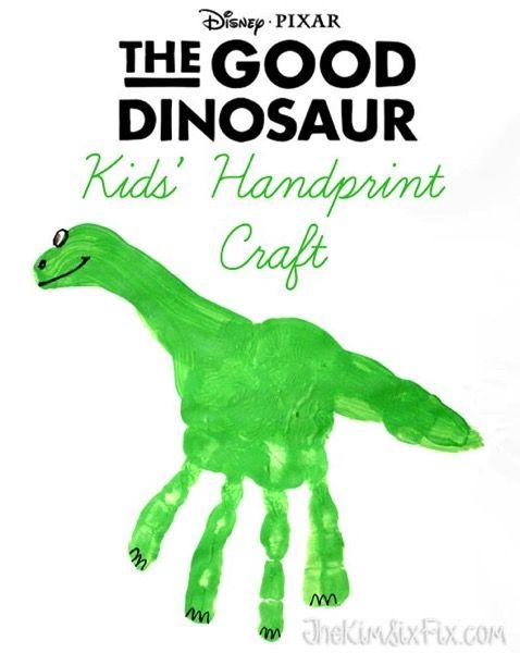 The Good Dinosaur Handprint Craft & Activity Sheets
