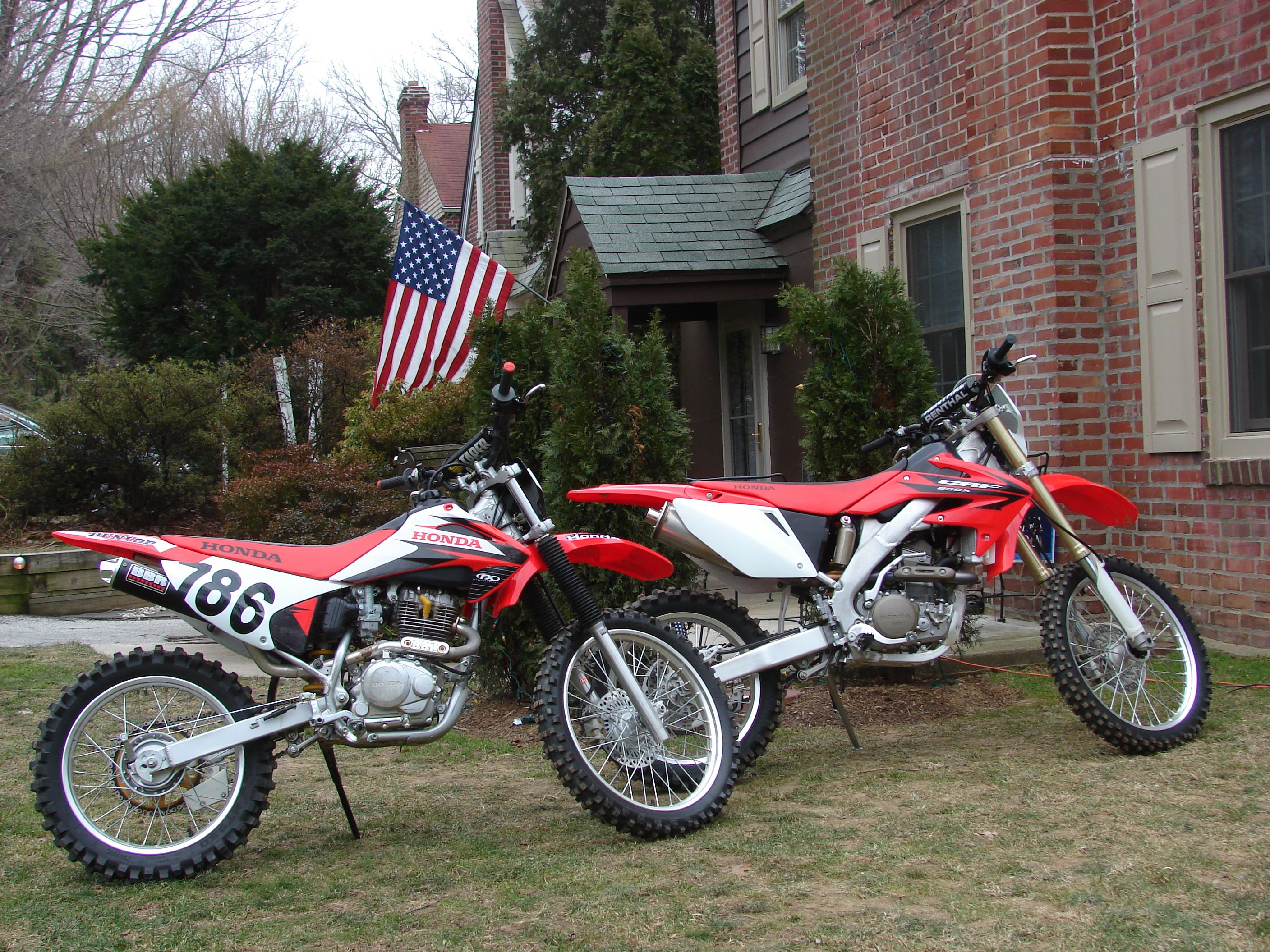 Sons bike crf230f with bbr kit pipe rejet carb air box front honda fandeluxe Images
