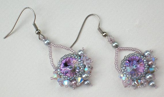 Swarovski Rvoli Crystals Pearls Grey Silver Opal by SpringColors, $25.00