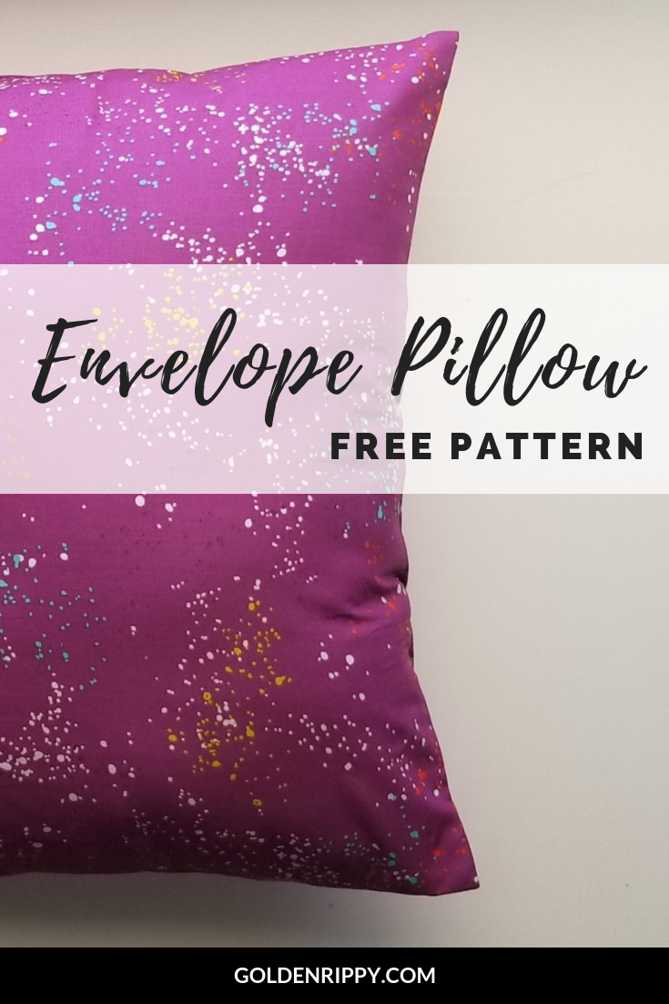 Here's a quick and easy free tutorial to make an envelope pillow. No zippers needed! Yay! Use this free sewing pattern to update the pillows in your home! #freepattern #envelopepillow #sewing #howtosew #sewingtips #beginner #pattern #free #tutorial