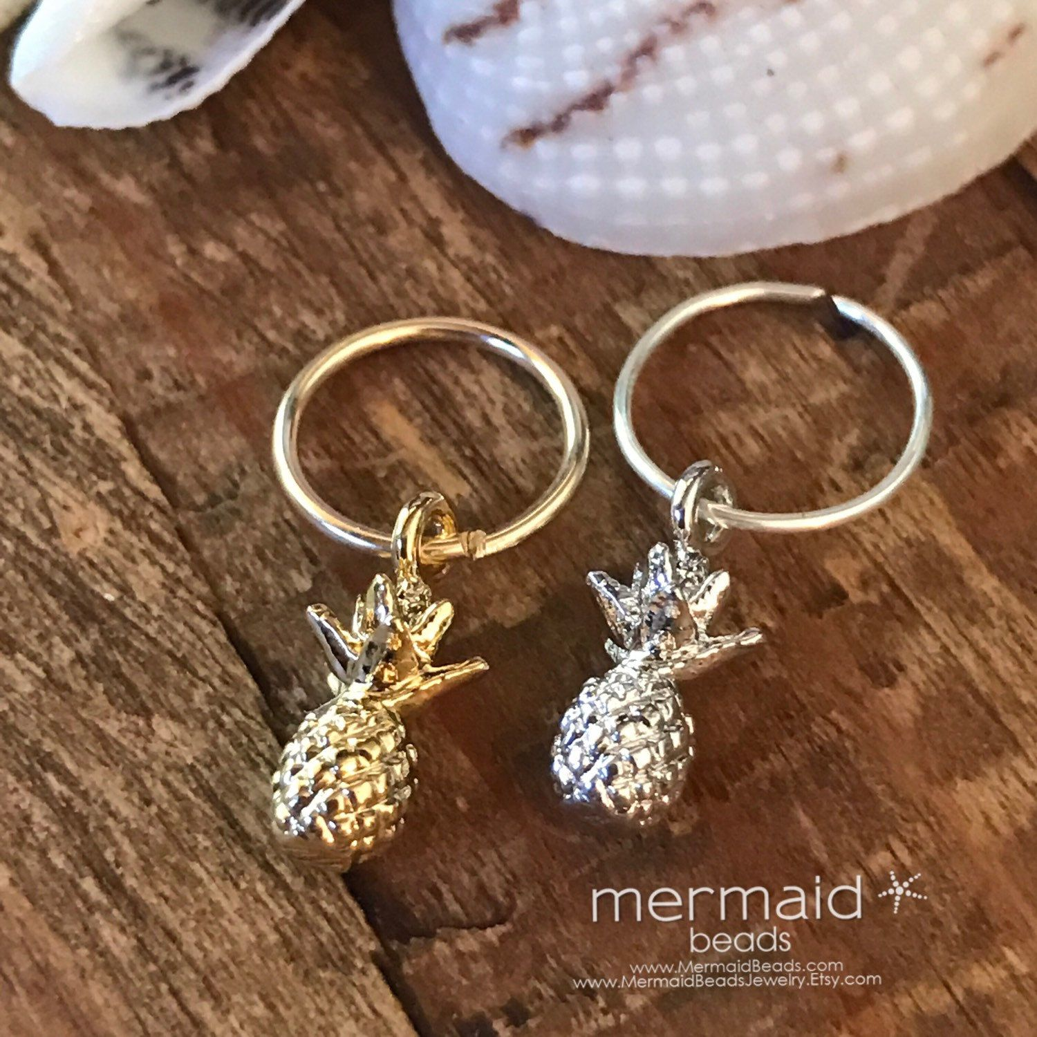Tropical Summer Outdoors Party Cartilage Earring Septum Ring Pineapple Hoop  Endless Gold Silver Tiny Tragus Helix Nose Hex Piercing Gift