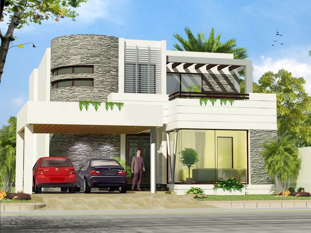 Exterior modern home decor with a beautiful design