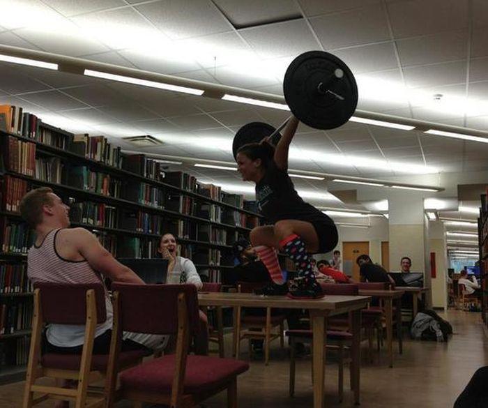 Library snatch!