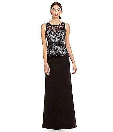 Ignite Evenings Lace Peplum Gown Dillards Military Ball