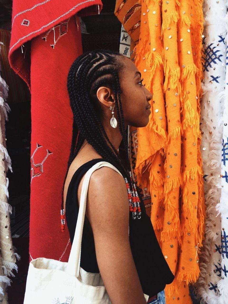# fulani Braids with yarn # fulani Braids with yarn