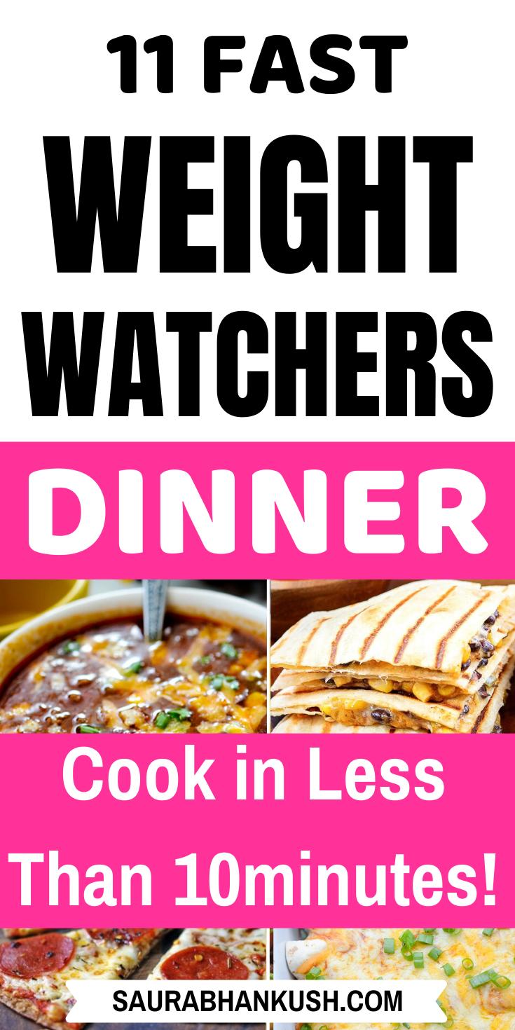 Weight Watchers Dinner Rezepte mit Punkten – 11 Freestyle WW Dinner Ideas SmartPoints   – WW Recipes