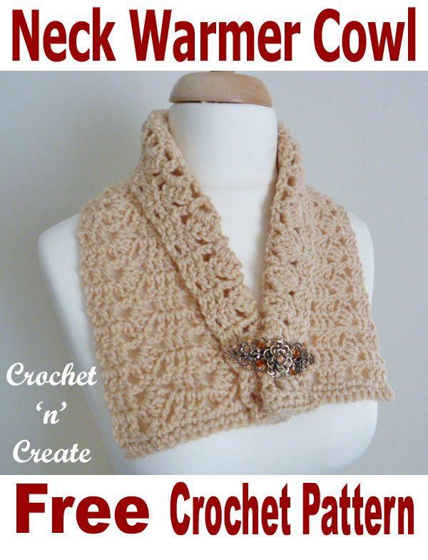 Neck Warmer Cowl Free Crochet Pattern Crochet Patterns Pinterest