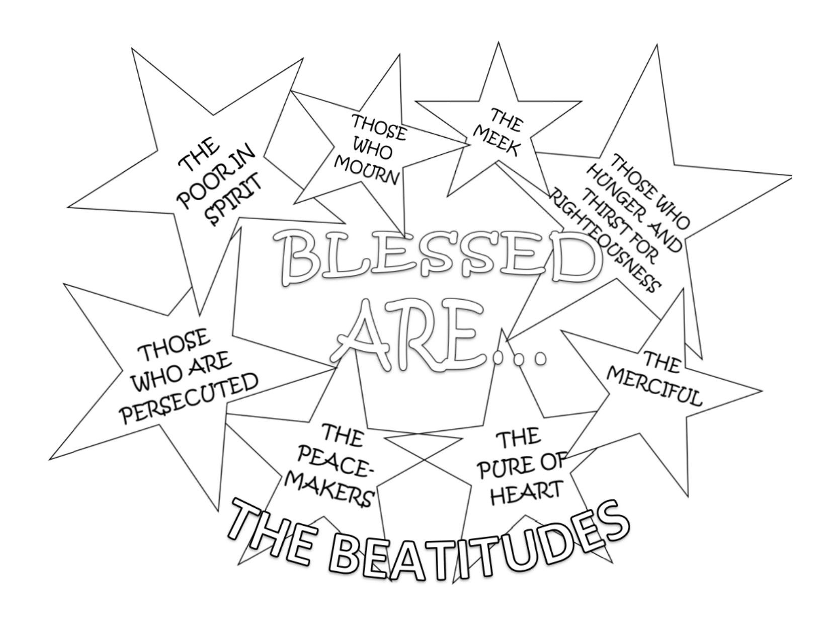 Cute Coloring Sheet For The Beatitudes