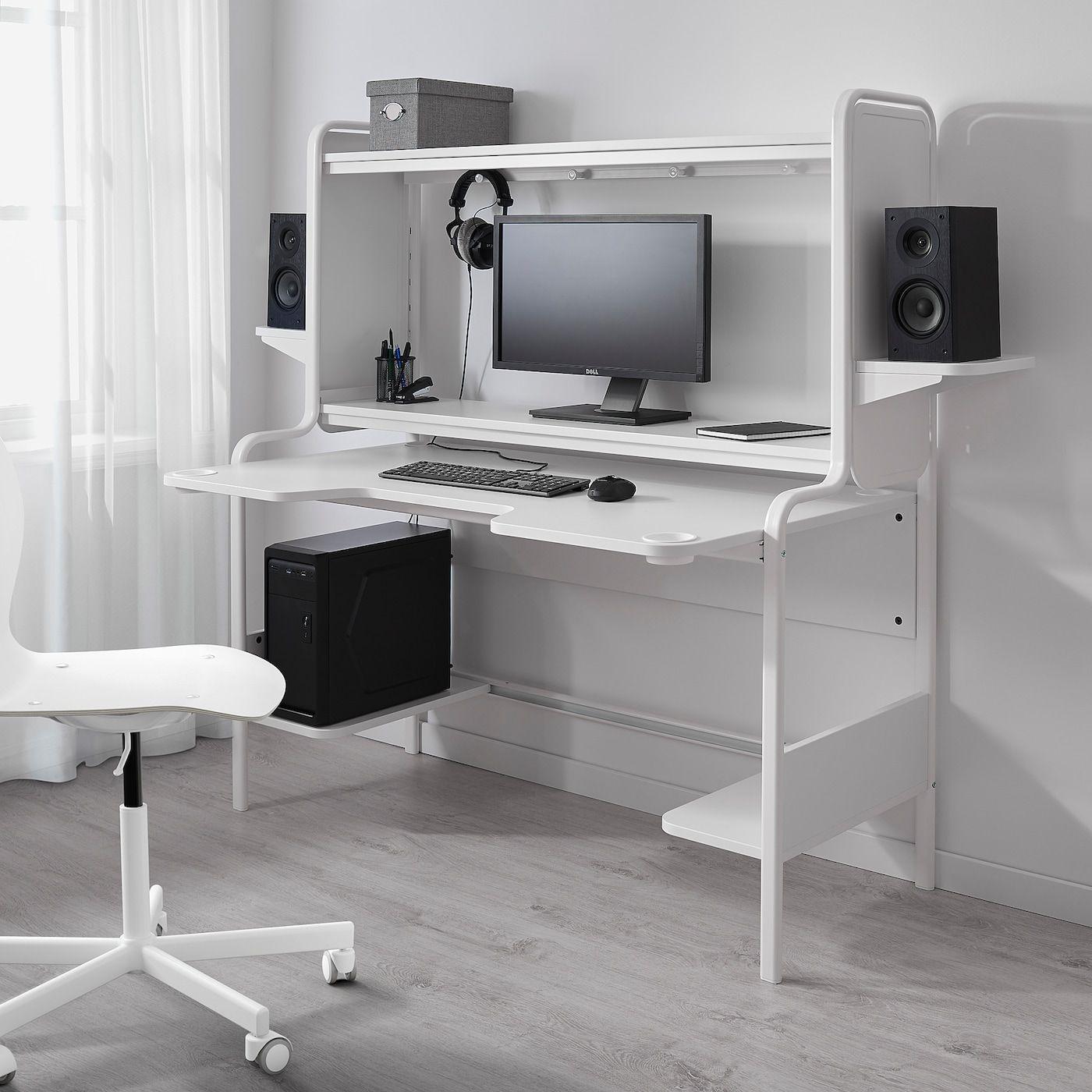 Fredde Desk White Ikea In 2020 Schreibtisch Weiss Ikea Schreibtisch Design Schreibtisch