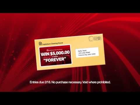Win 5000 a week for life sweepstakes