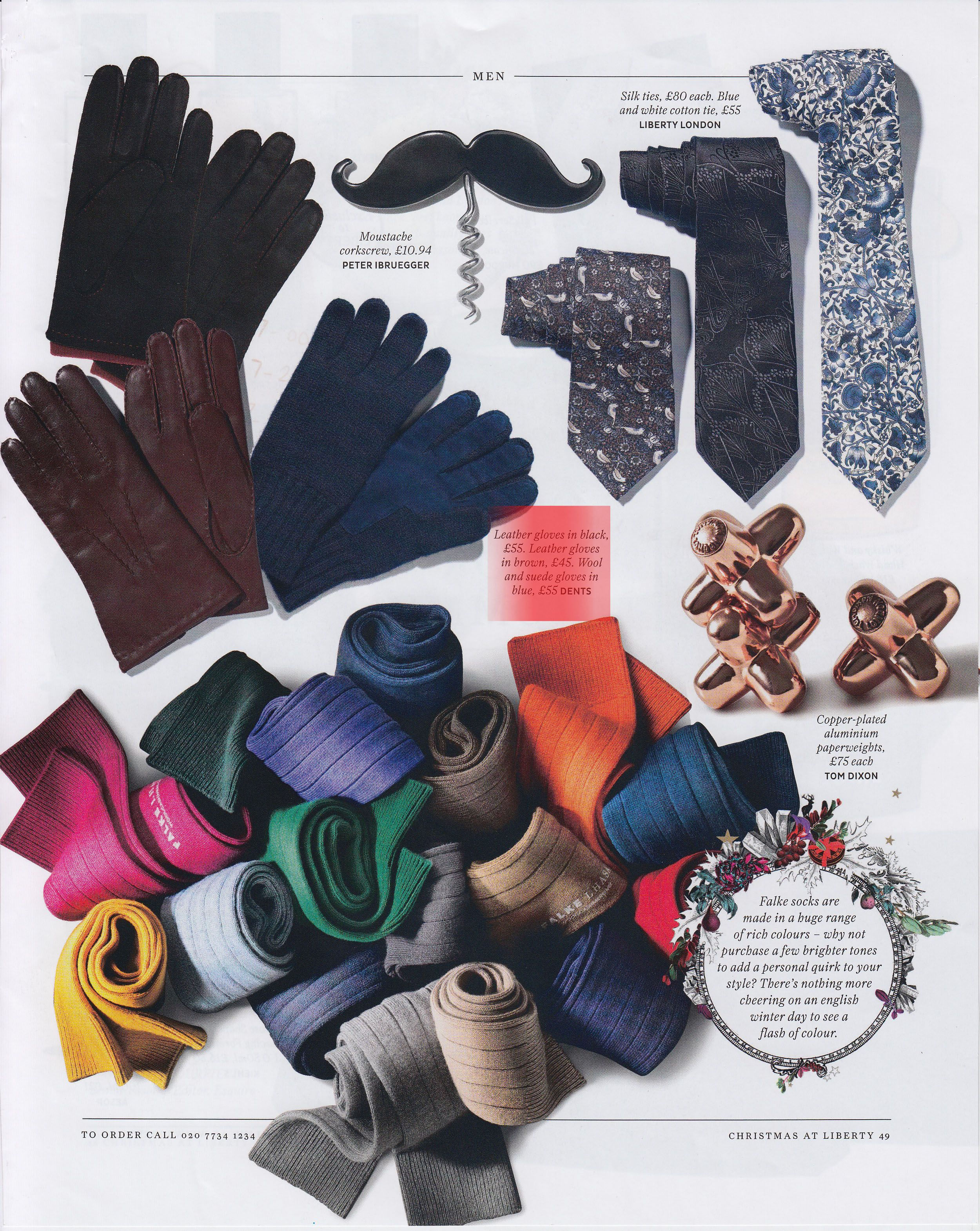 Gifts for the sartorial man...as seen in @Liberty London Magazine December 2012