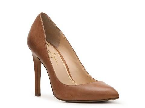 46dc60b879 Jessica Simpson Veronica Leather Pump | DSW | Dark Nude Shoes ...