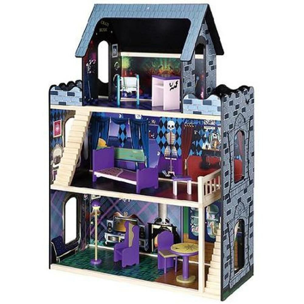 New Monster High Dolls Monster Mansion Wooden Doll House