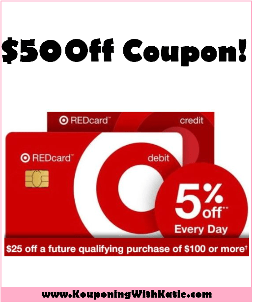 Free 50 Off Coupon For New Target Redcard Debit Card Holders Debit Debit Card Coupons