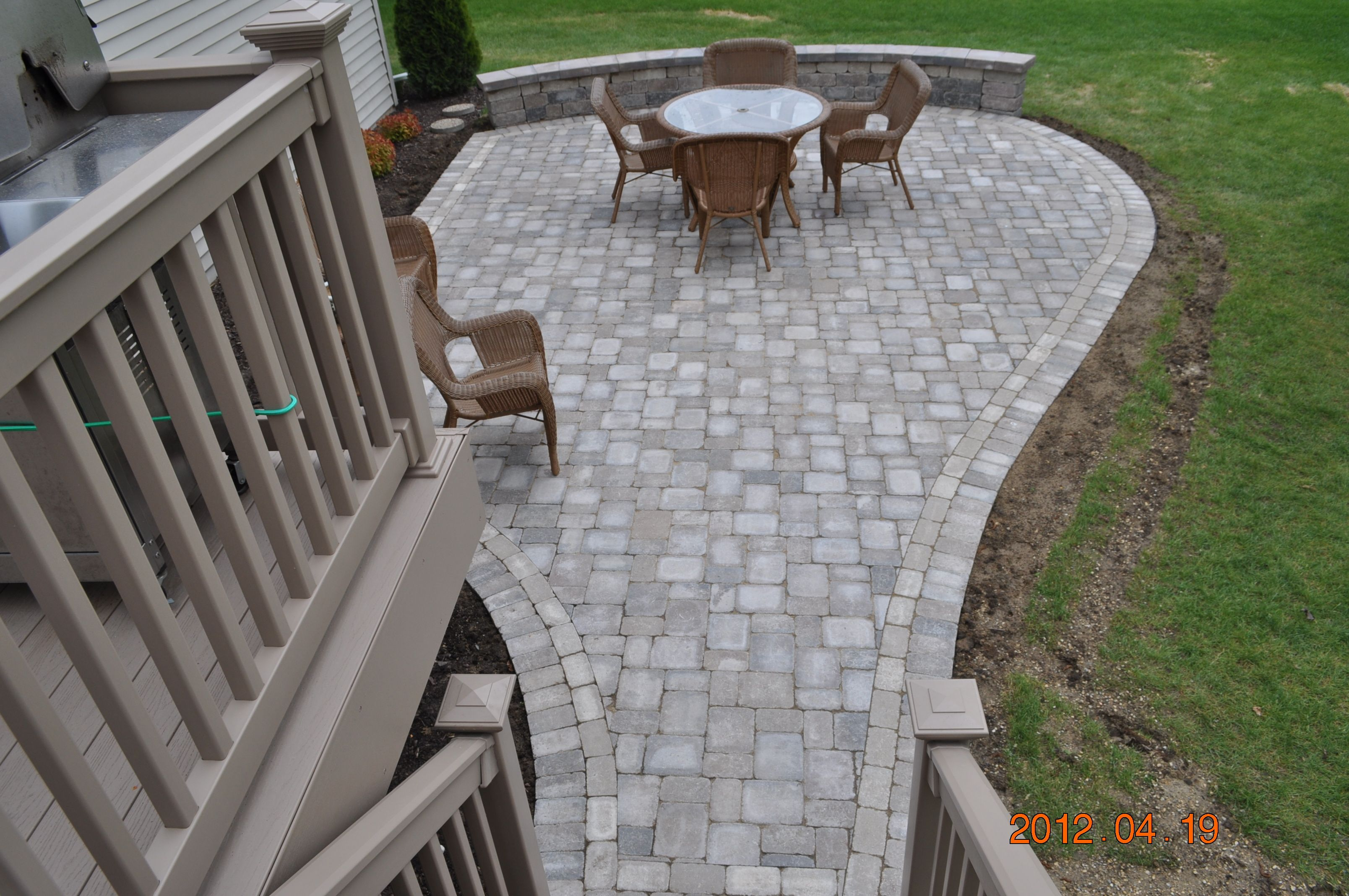 Brick Paver Walkway Designs Rockford Patio And Walkway Design  Creative Concrete And