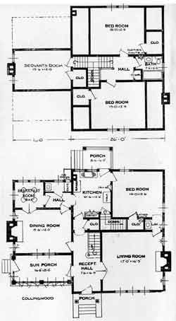 Standard Home Plans For 1926 The Collingwood House Plans How To Plan Build Your House