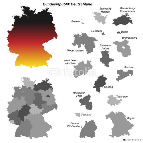 Vektor Deutschland Karte Mit Bundeslandern Deutschland