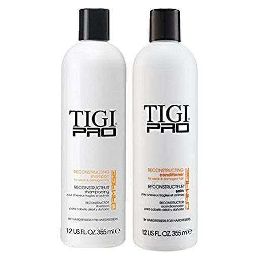 Tigi Pro Reconstructing Shampoo And Conditioner For Damaged Dry Weak Hair Combo Bundle 1 Shampoo 1 Conditioner S Shampoo And Conditioner Weak Hair Shampoo