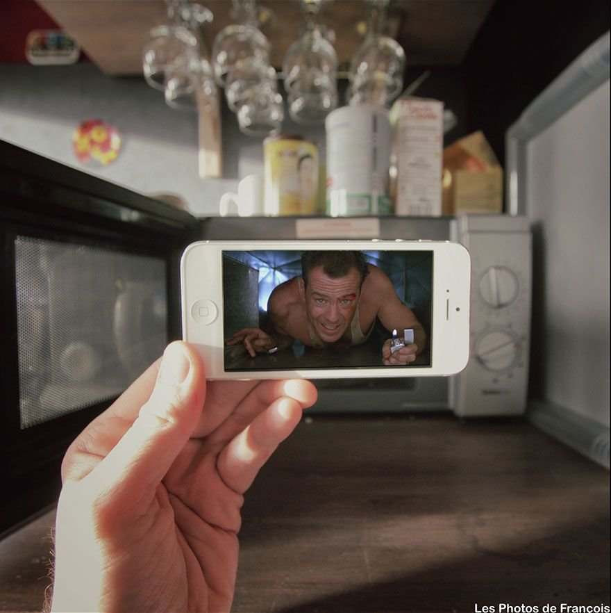 I Insert Movie Scenes Into Real Life Situations Using My Iphone | Bored Panda