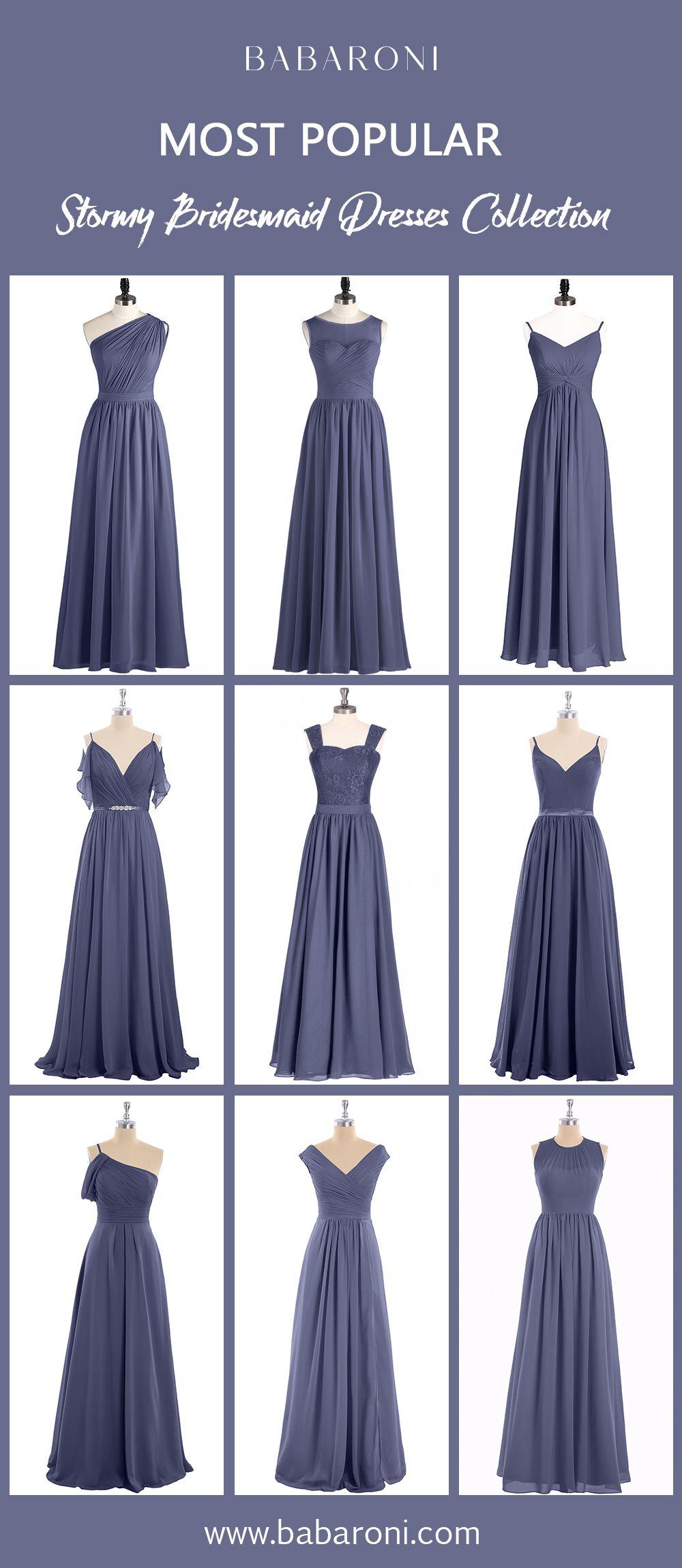 Bridesmaid Dresses Stormy Bridesmaid Dresses Bridesmaid Dresses Long Chiffon Blue Bridesmaids [ 2300 x 1000 Pixel ]