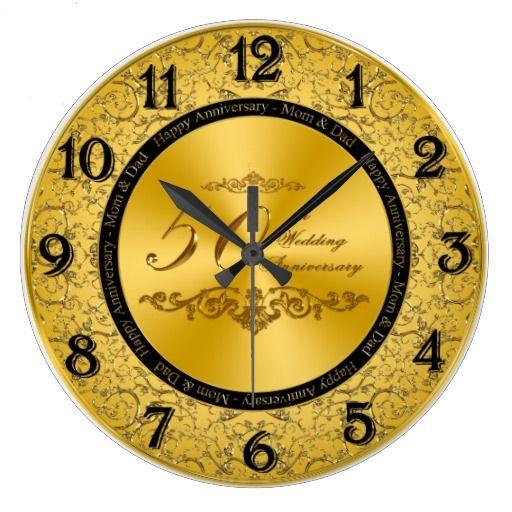 50th Wedding Anniversary Wall Clock Zazzle Com 50th Wedding Anniversary 50th Anniversary Gifts Clock