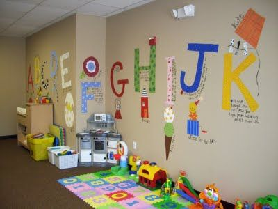 Church nursery ideas on pinterest for Church mural ideas