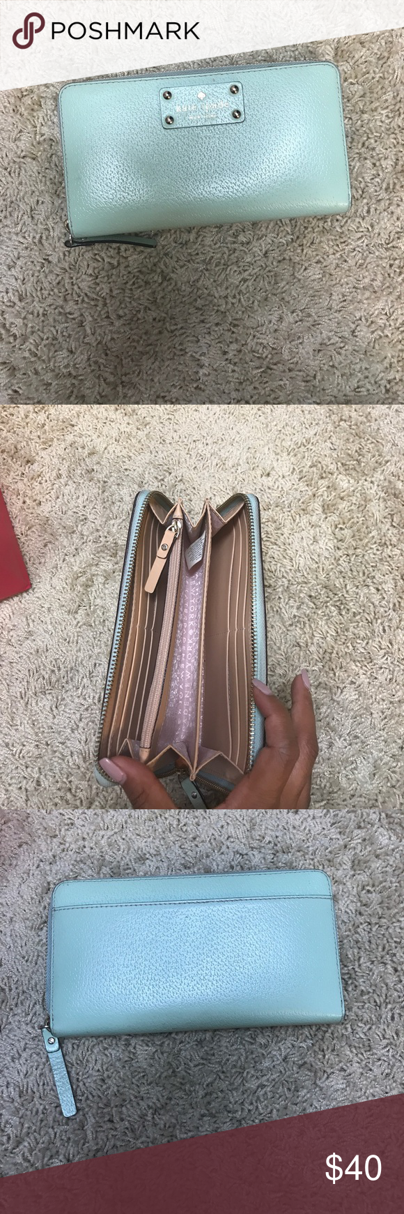 Kate spade wallet Zip up wallets lots of room has small signs of use but a lot of life left in it kate spade Bags Wallets