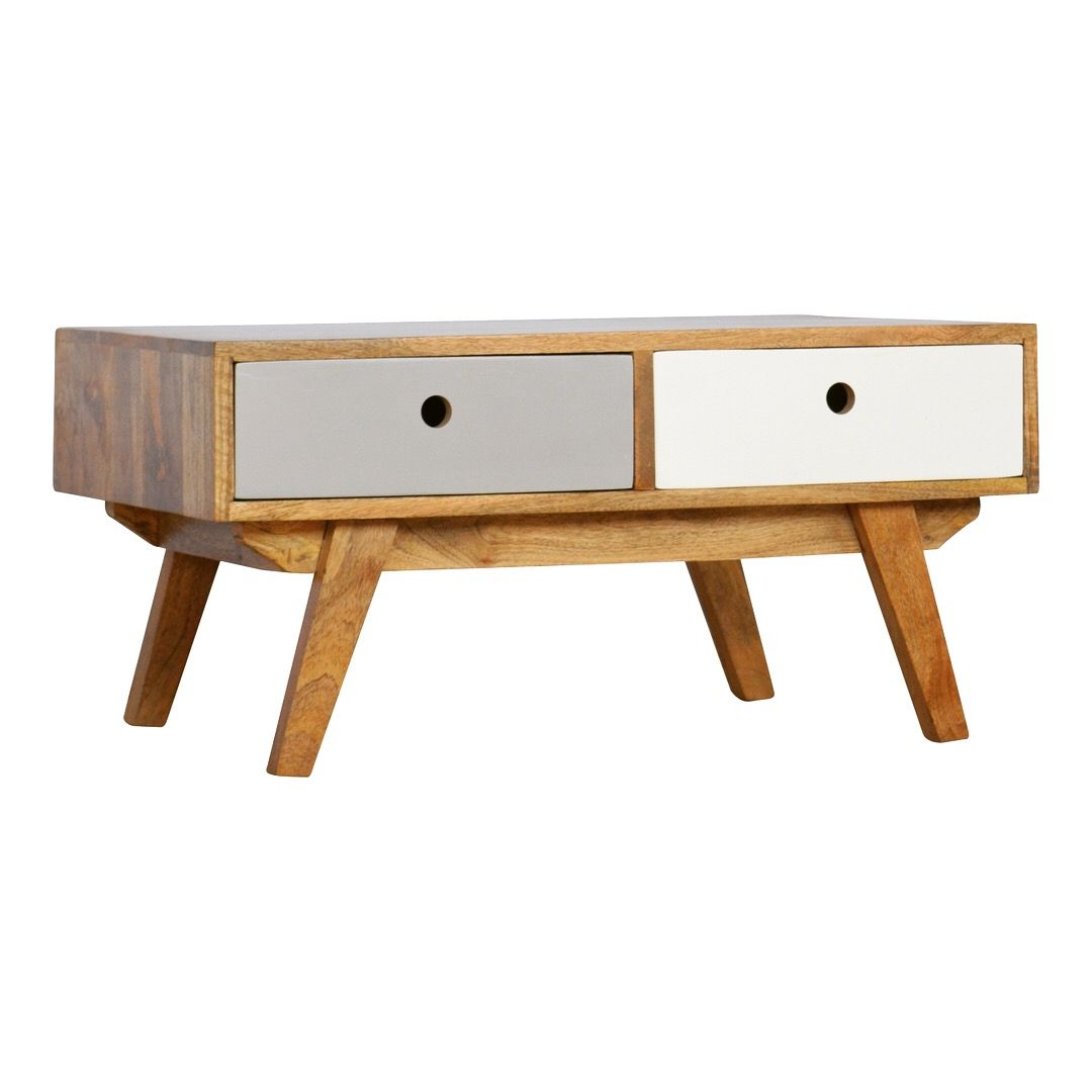 Two Tone 2 Drawer Coffee Table Painted Coffee Tables Coffee Table Wood Solid Wood Coffee Table [ 1080 x 1080 Pixel ]