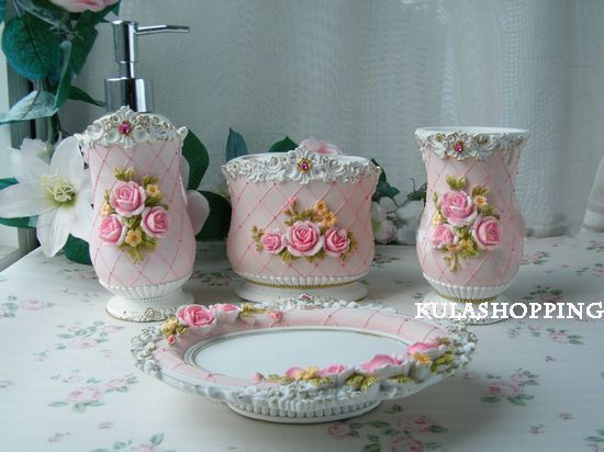 Shabby CHIC bathroom Accessories Shabby Chic Homes in 2018