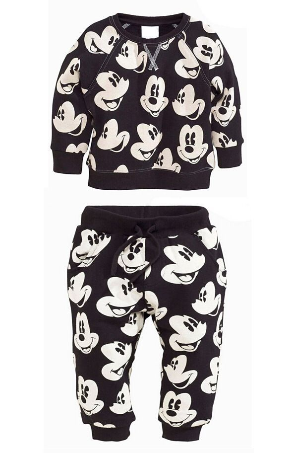 Kids Boys Girls Mickey Minnie Mouse Jumper Trousers Set Clothes Top Bottom is part of Clothes Cute Kids -